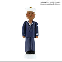 Z Ornament: Navy Sailor African American