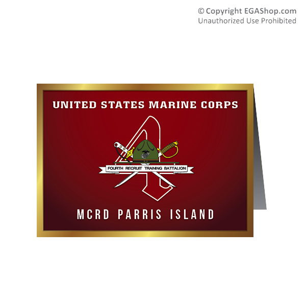 Card Shop: Graduation - 4th Btn, Parris Island (Pkg of 10)
