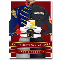Card Shop Happy Birthday Marines Past And Present Pkg Of 6