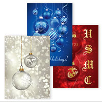 Christmas Cards: Red/White/Blue Variety EGA (Pkg of 12)