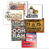 Greeting card marine corps 6 designs pkg of 6 m4hsunfo