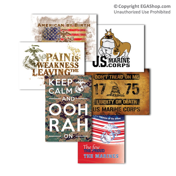 Greeting Card: MARINE CORPS, 6 Designs (Pkg of 6)