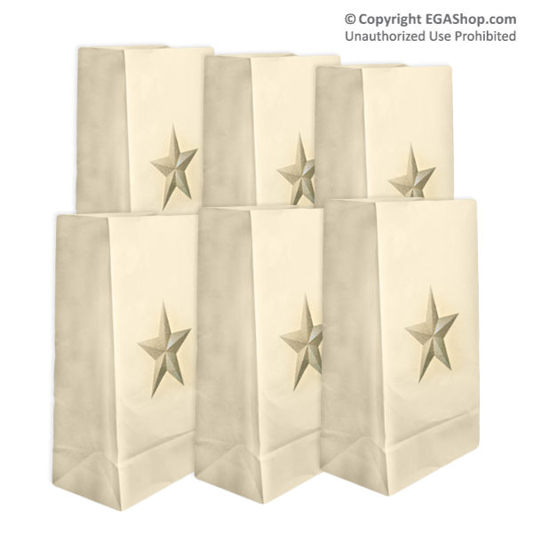 Luminary: Gold Star Luminary Bags (pkg of 10)