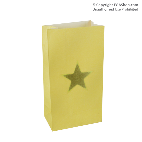 Luminary: Gold Star Luminary Bag