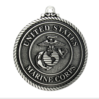 Ornament: USMC, Eagle Globe & Anchor (Pewter)