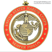 Ornament: EGA and Semper Fidelis