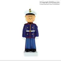 Ornament: Marine in Dress Blues