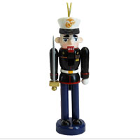 Ornament: Dress Blue Nutcracker WITH SWORD