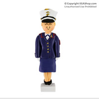 Ornament: Female Marine in Dress Blues Blonde
