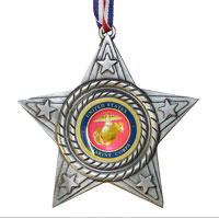 Ornament, Pewter: USMC Seal Star