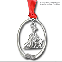 Ornament: Pewter 3D Iwo Jima