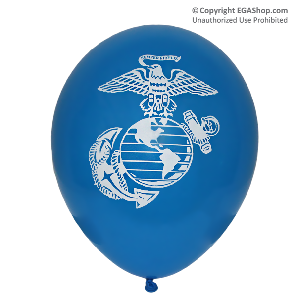 Balloons: Printed w/ EGA on both sides (12-pack, BLUE)