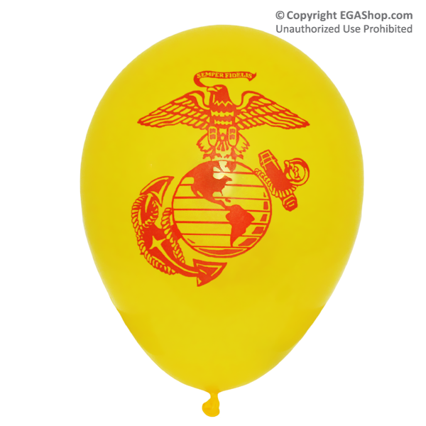 Balloons: Printed w/ EGA on both sides (12-pack, YELLOW)