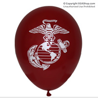 Balloons: Printed w/ EGA on both sides (12-pack, MAROON)