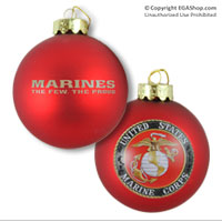 Ornament: US. Marine Corps Glass Ball