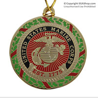 Ornament: USMC Holiday