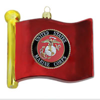 Ornament: Flag with Marine Corps Seal
