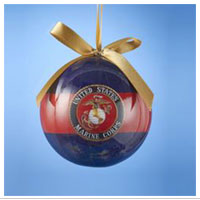 Ornament: US Marine Corps Stripe Ball