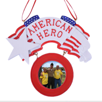 "Ornament: ""American Hero"" Photo Frame"