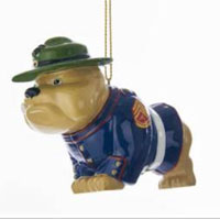 Ornament: Dress Blue Bull Dog