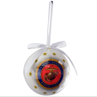 Ornament: Marine Corps Glossy Finish Decoupage  Ball