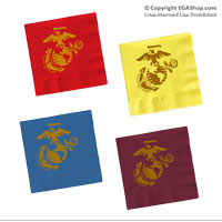 Napkins: w/ Eagle Globe and Anchor (Pkg of 50)
