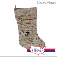 Christmas Stocking: Desert Camo, Marine Corps