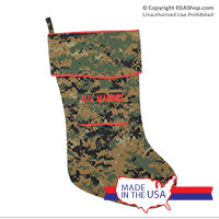 Christmas Stocking, Woodland Camo, Marine Corps