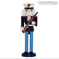 "Nutcracker: Marine Dress Blue w/ EGA on cover (14"")"