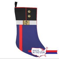 Christmas Stocking: Dress Blue Uniform
