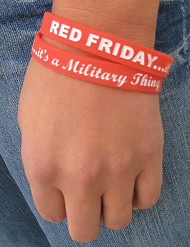 discount for quantity purchases encourage your whole family and entire workforce to wear red on friday our new silicone wristbands make it easy and - Support Our Troops Silicone Bracelet
