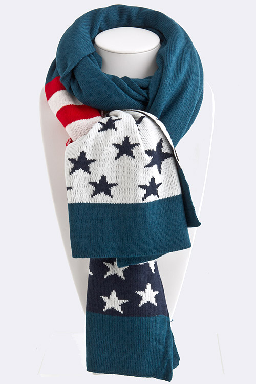 Scarf: Patriotic Stars and Stripes (Large)