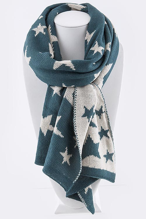 Scarf: Star Pattern (Choice of Colors)