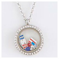 Floating Charm Necklace, Patriotic