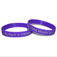 Wristband: Military Child Month (Purple)