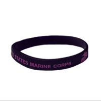 Wristband: Marine Corps (Black and Pink)