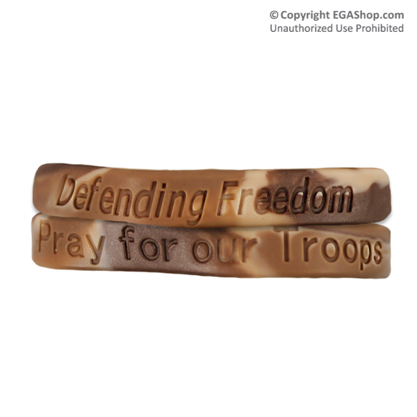 wristband pray for our troops defending freedom - Support Our Troops Silicone Bracelet