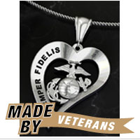 _Necklace: Semper Fidelis Heart Design