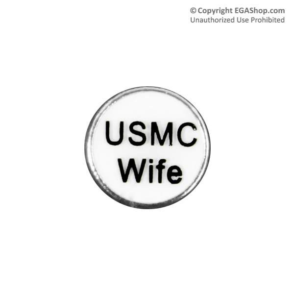 Floating Locket Charm: USMC Wife