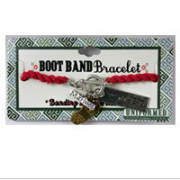 Bracelet: Boot Band Charms (Pink)