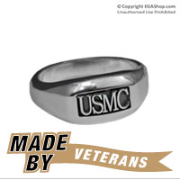 Ring, Sterling Silver USMC Rugged