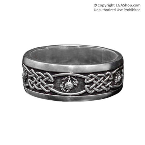 Ring, Sterling Silver Celtic EGA Band