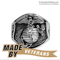 Ring, Sterling Silver USMC Custom