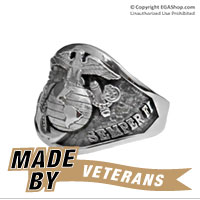 Ring, Sterling Silver Semper Fi Graduation Ring