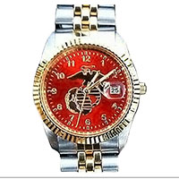 Watch (Men's), Eagle Globe Anchor on Scarlet-Color Face