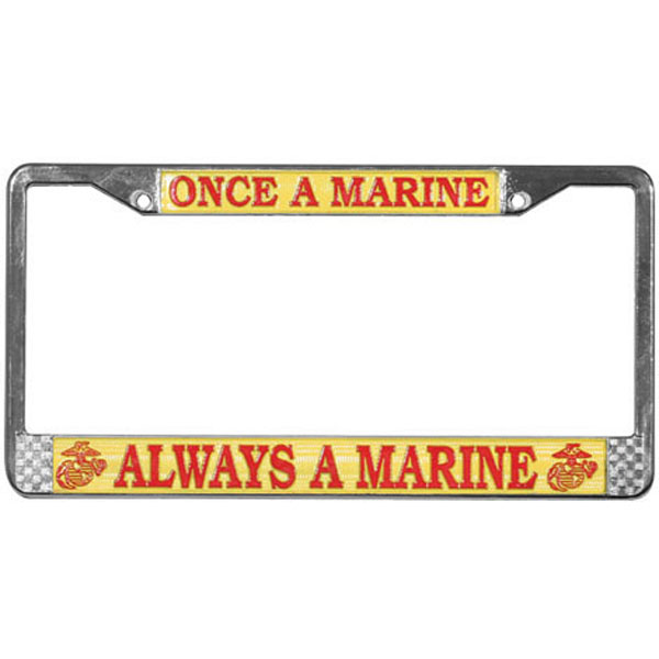 License Plate Frame Once A Marine