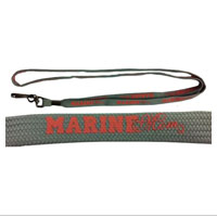 Lanyard: Marine Mom (pink on grey)