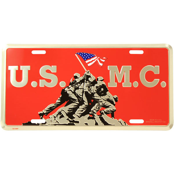 License Plate: Iwo Jima US Marine