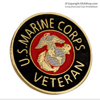 Lapel Pin, US Marine Corps Veteran