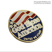 Lapel Pin, God Bless America